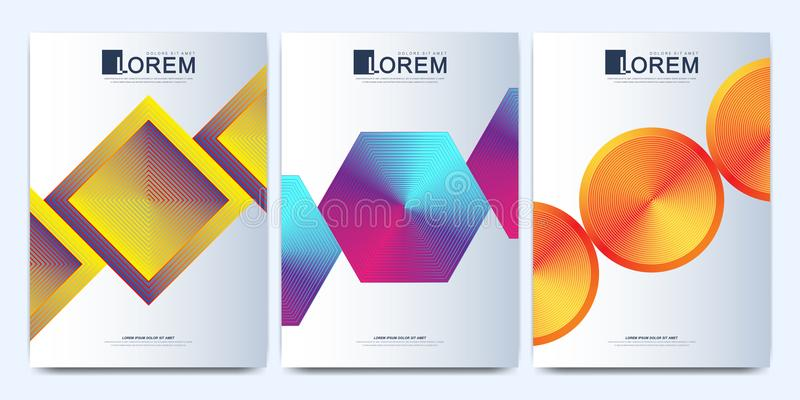 Nowożytny wektorowy szablon dla broszurki, ulotki, ulotki, pokrywy, katalogu, magazynu lub sprawozdania rocznego w A4 rozmiarze,  ilustracja wektor