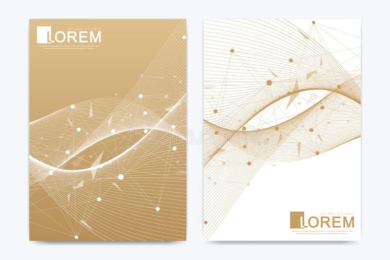 Nowożytny wektorowy szablon dla broszurki ulotki ulotki pokrywy katalogu sztandaru sprawozdania rocznego w A4 rozmiarze lub magaz ilustracja wektor
