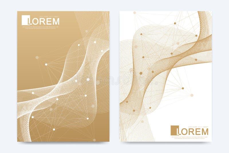 Nowożytny wektorowy szablon dla broszurki ulotki ulotki pokrywy sztandaru katalogu sprawozdania rocznego w A4 rozmiarze lub magaz ilustracja wektor