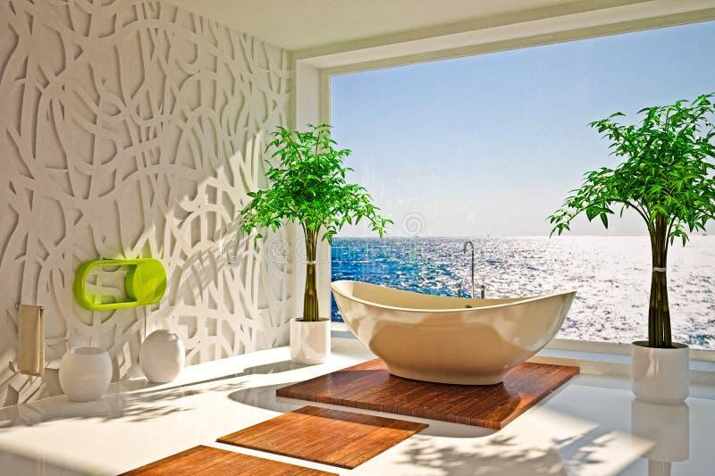 Download Nowożytny wnętrze łazienka zdjęcie stock. Obraz złożonej z lokacje - 28962970