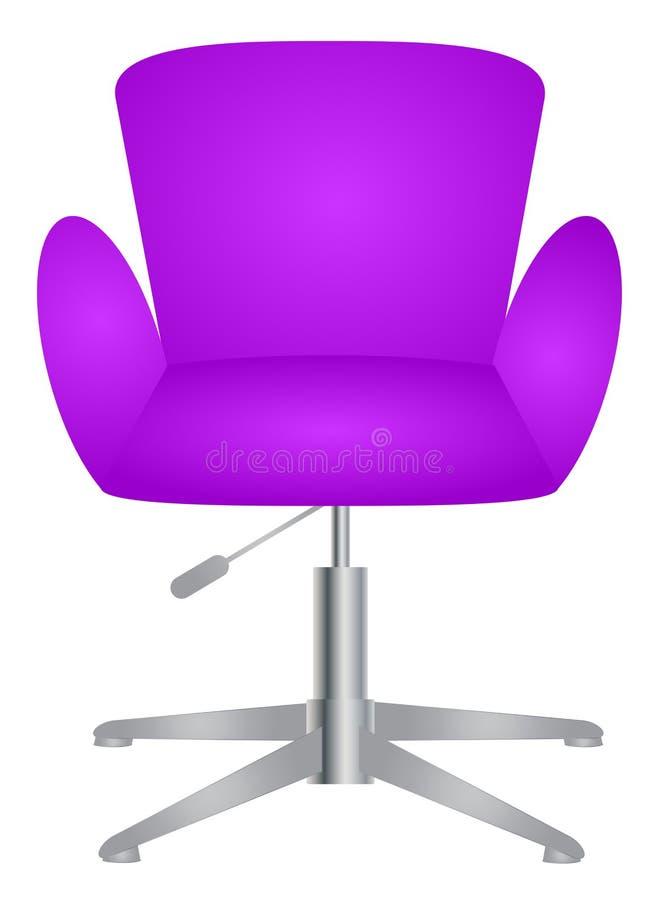 Nowożytny wygodny elegancki i elegancki krzesło royalty ilustracja