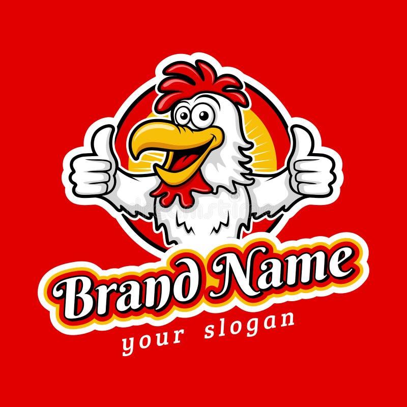Nowożytny Yummy pieczonego kurczaka emblemata loga szablon ilustracji