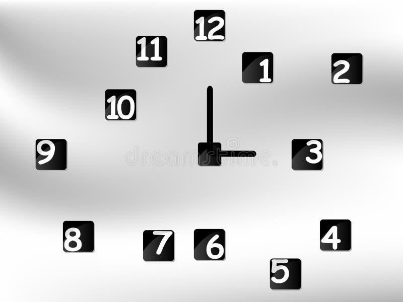 Nowożytny zegar royalty ilustracja