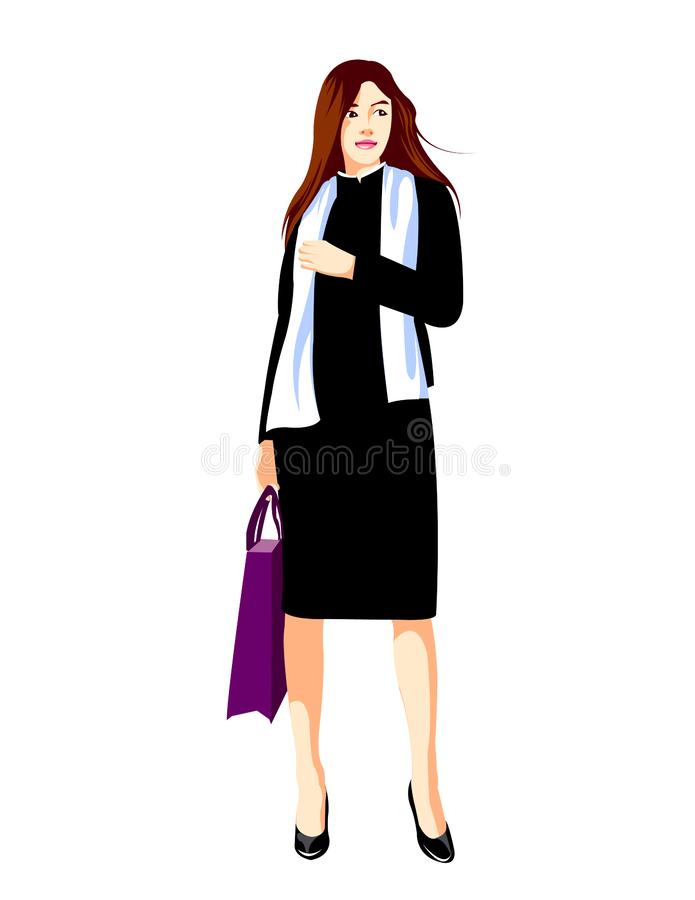 Nowo?ytna biznesowa dama royalty ilustracja