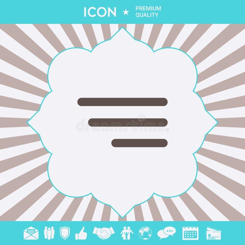 Nowo?ytna menu ikona dla mobilnych apps i stron internetowych Graficzni elementy dla tw?j projekta royalty ilustracja