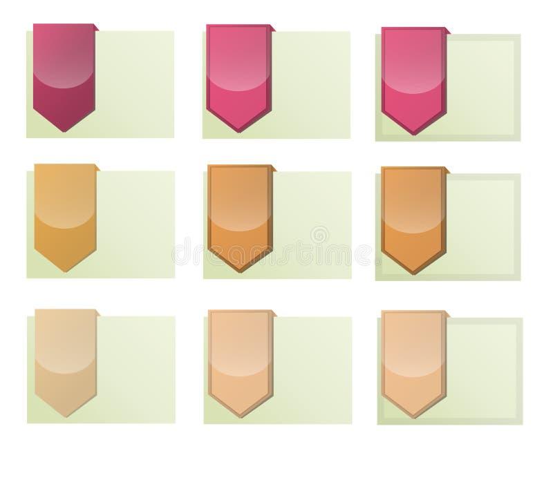 Nowożytnego Projekta Graficzna Etykietka Zdjęcie Stock