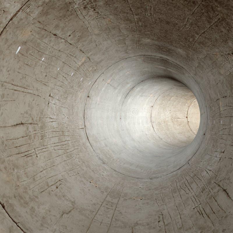 Nowo?ytny futurystyczny betonowy tunel ilustracji