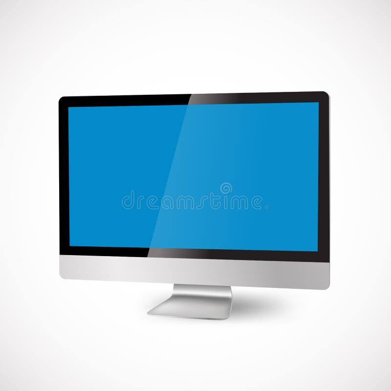 Download Nowożytny komputer ilustracja wektor. Ilustracja złożonej z blank - 28968329