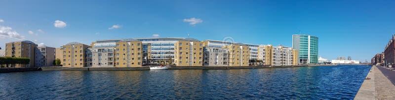 Nowo?ytny mieszkaniowy okr?g Kopenhaga fotografia stock