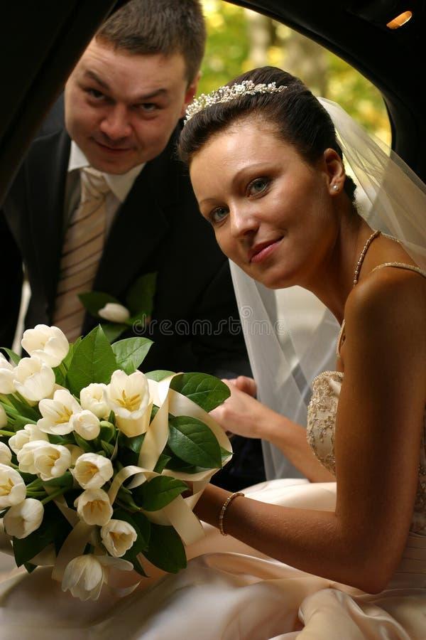 nowo zamężna para obrazy stock