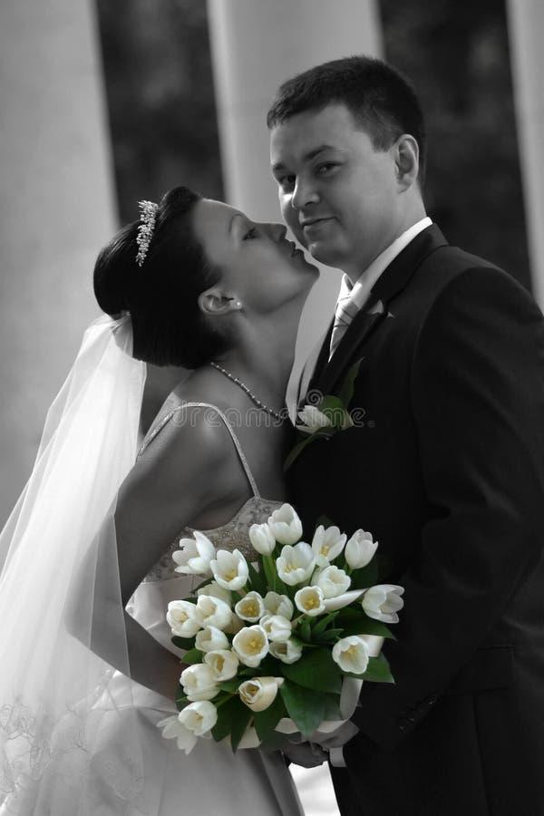 nowo zamężna para zdjęcia royalty free