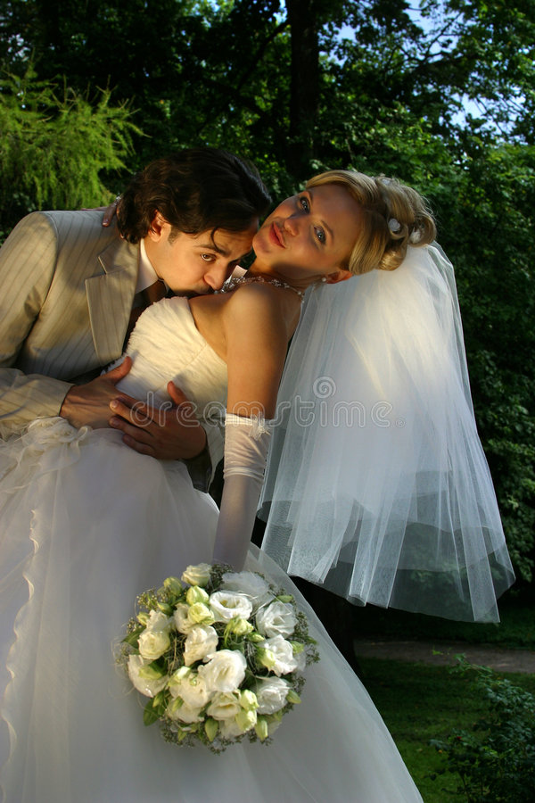 nowo zamężna para zdjęcie stock