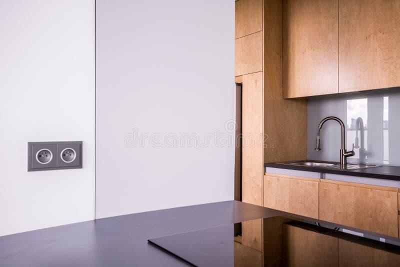 nowoczesna kuchnia drewniane zdjęcia stock