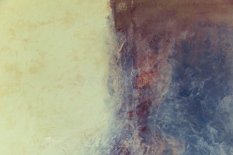 nowoczesna sztuka Dzisiejsza ustawa Artystyczna ścienna farba zdjęcie stock