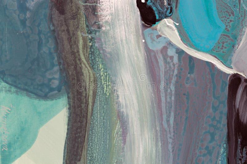 nowoczesna sztuka Dzisiejsza ustawa kanwa kolorowa akwarela kapinosy fotografia royalty free