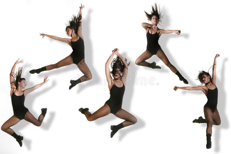 nowoczesna tancerzy obrazów wielokrotności zdjęcie stock
