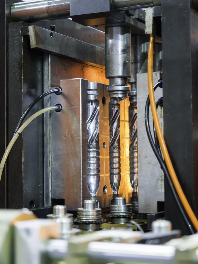 Nowoczesna technologia Plastikowy butelki fabrykować przemysłowy zdjęcia stock