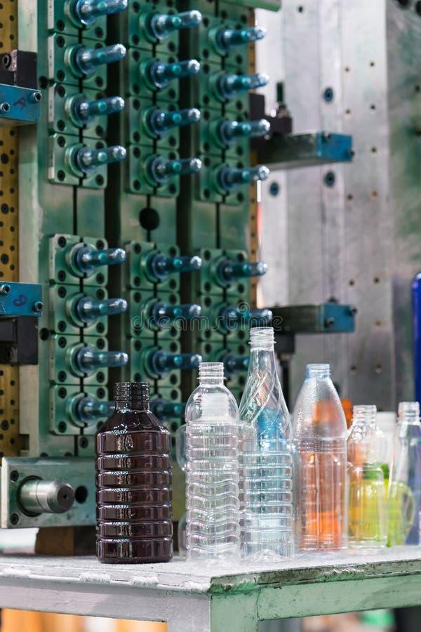 Nowoczesna technologia Plastikowy butelki fabrykować przemysłowy fotografia royalty free