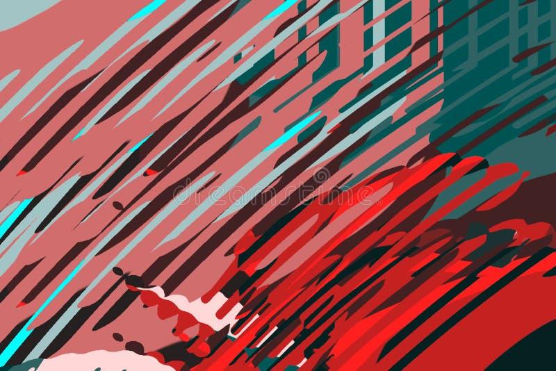 nowoczesne abstrakcyjne t?o Kreatywnie kolorowi kszta?ty i formy geometryczny wz?r Rewolucjonistka, ziele? i b??kitna jaskrawa gr ilustracji