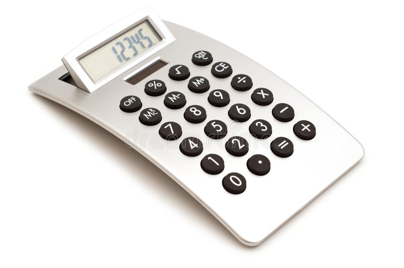 nowoczesne kalkulator obrazy stock