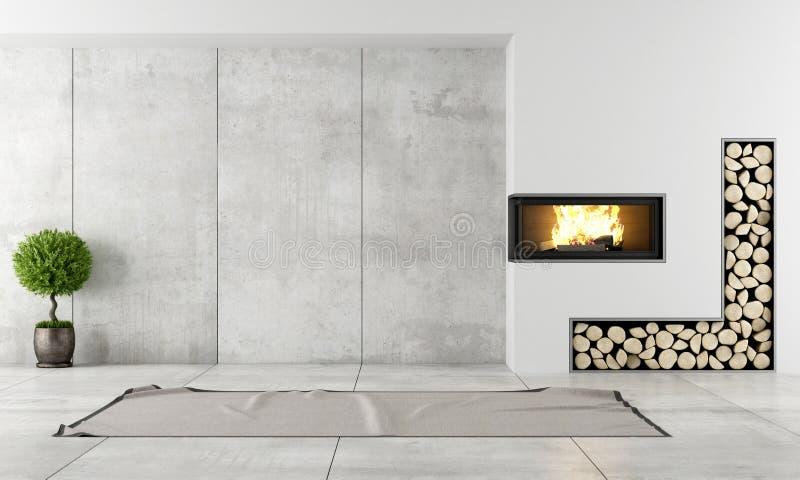 nowoczesne kominki wnętrze ilustracja wektor