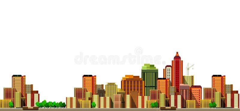nowoczesne miasta krajobrazu ilustracja wektor