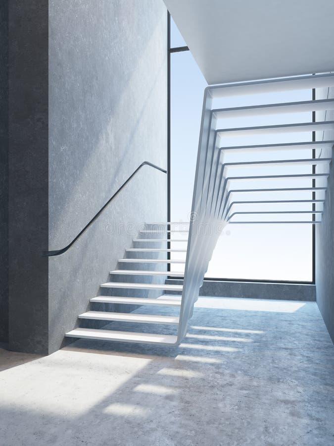 Nowoczesne schody w penthouse royalty ilustracja