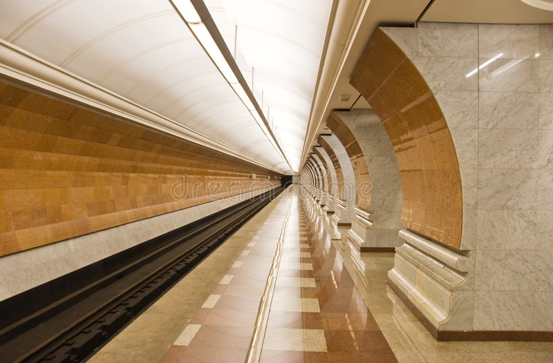 nowoczesne stacji metra zdjęcie royalty free