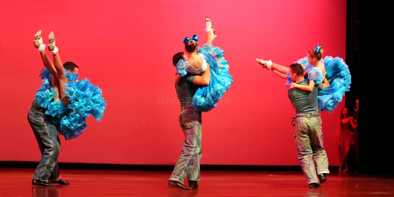 nowoczesne tańczącego zdjęcie royalty free