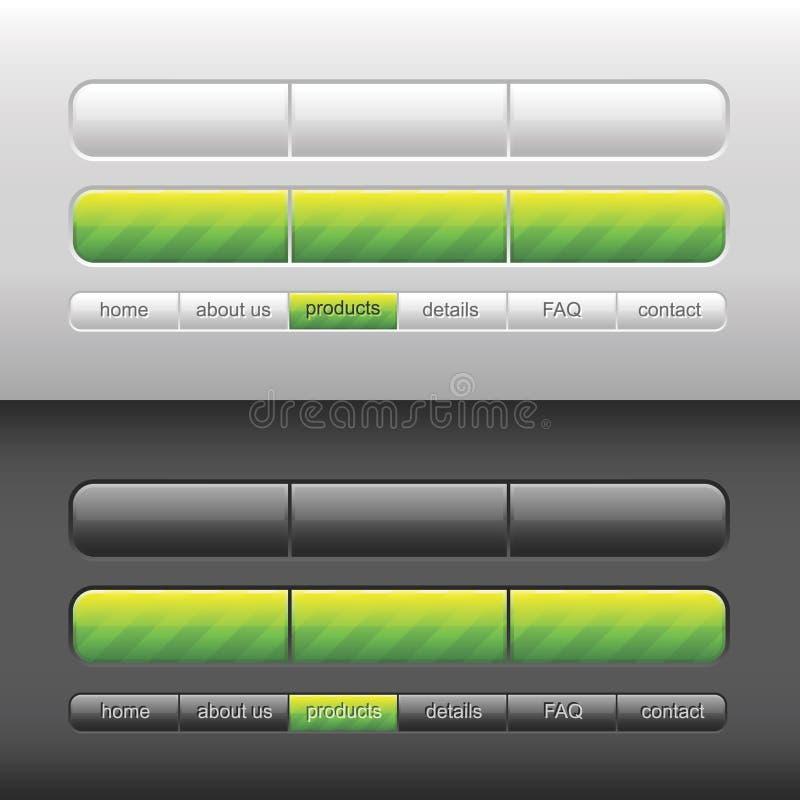 nowoczesne wektora interfejsu użytkownika royalty ilustracja