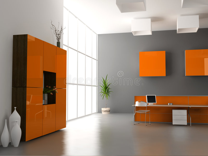 nowoczesne wewnętrznego urzędu ilustracji