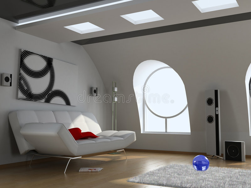 nowoczesne wnętrze ilustracja wektor