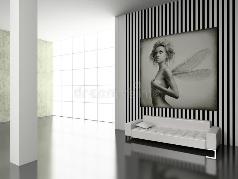 nowoczesne wnętrze ilustracji