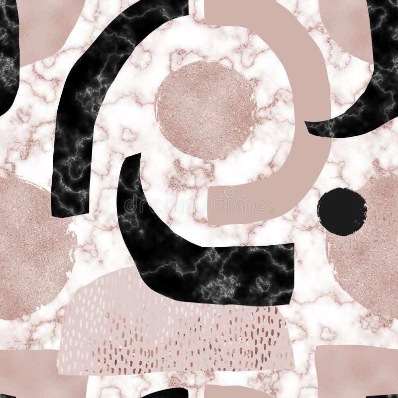 Nowoczesny minimalizm dla modnej konstrukcji nawierzchni z efektem blasku royalty ilustracja