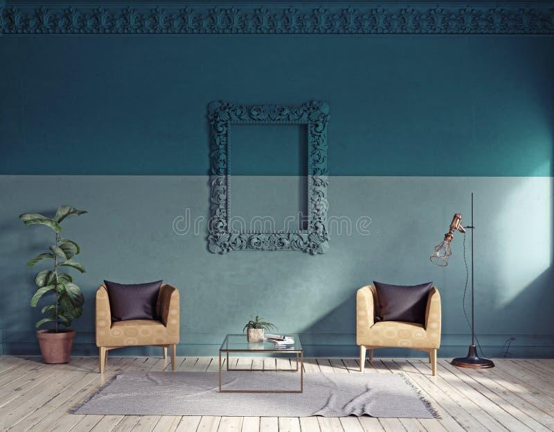 nowoczesny pokój wewnętrzny żywy zdjęcie stock