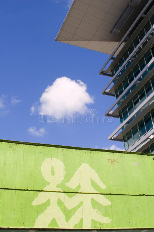 nowoczesny symbol ekologii architektury obrazy stock
