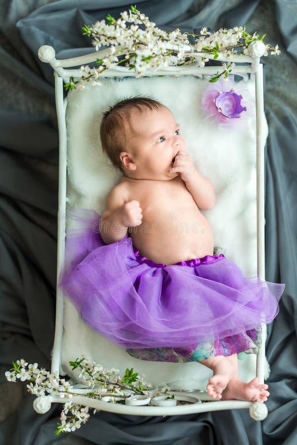 Nowonarodzony dziewczynki princess obrazy stock
