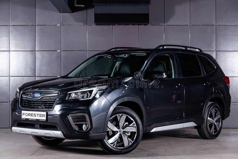 Nowosibirsk, Russland am 30. Juni 2019: Subaru-Förster stockfotos