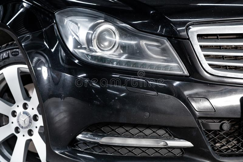Nowosibirsk, Russland - 15. Mai 2019: C-klasse à  Mercedess ¡ 180 stockbild