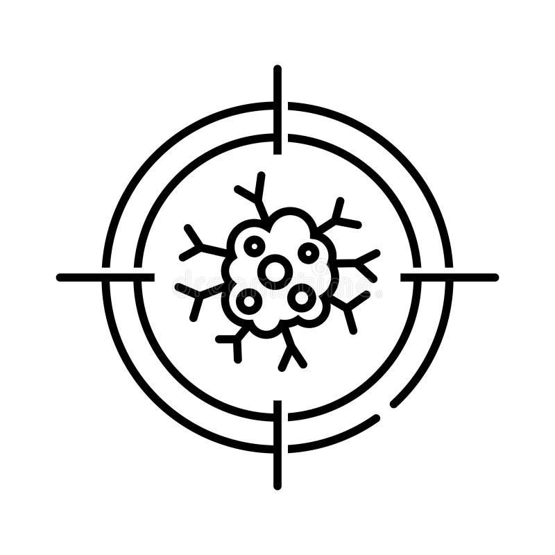 Nowotwór ikona, wektorowa ilustracja ilustracji