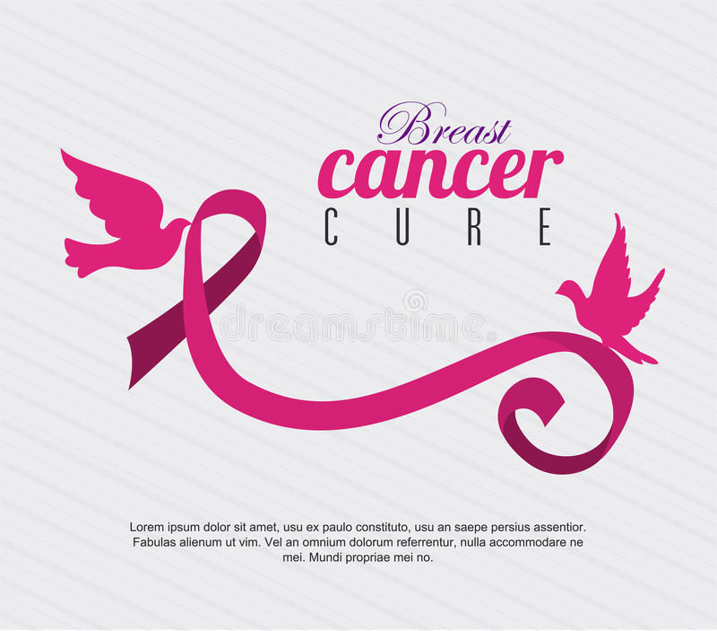 nowotwór piersi lekarstwa walki znaleziska funduszu pocztowy znaczek ilustracja wektor
