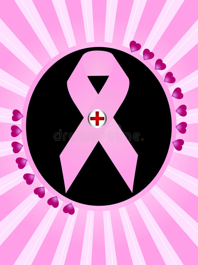 nowotwór piersi symbol ilustracja wektor