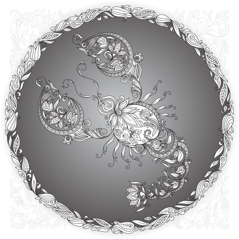 Nowotwór w kwiecistej ramie royalty ilustracja