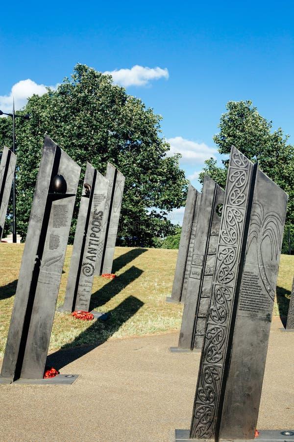 Nowozelandzki Memoriał Wojenny w Londynie zdjęcia stock
