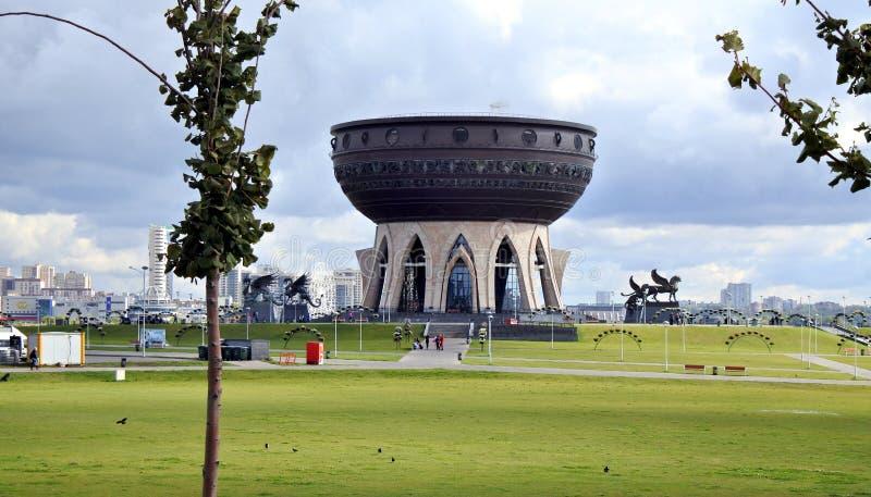 Nowy ślubny pałac w Kazan, Tatarstan, Rosja zdjęcia royalty free