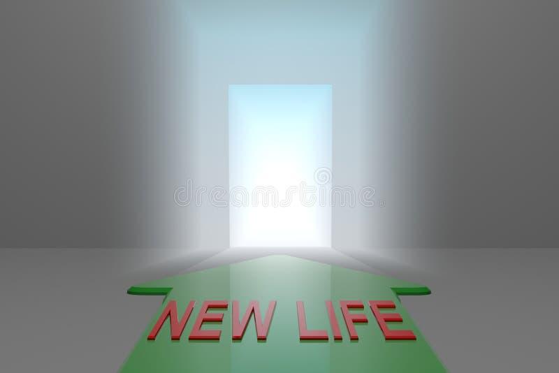 Nowy życie otwarta brama ilustracja wektor