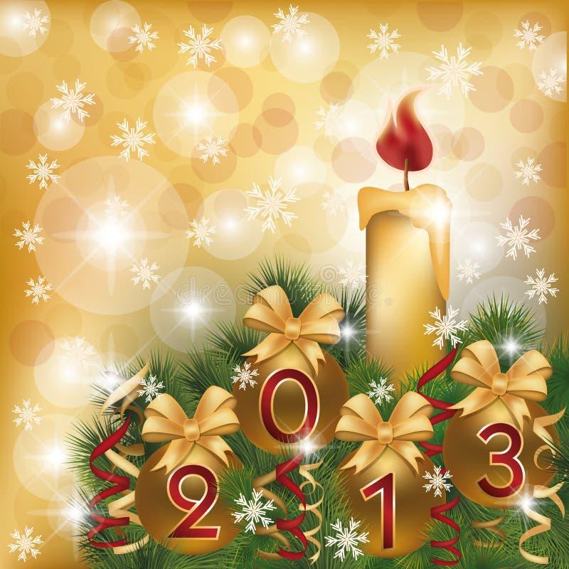 Nowy 2013 Rok kartka z pozdrowieniami royalty ilustracja