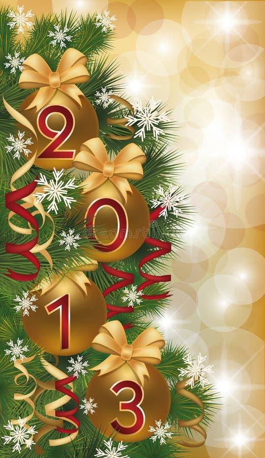 Nowy 2013 rok sztandar ilustracji