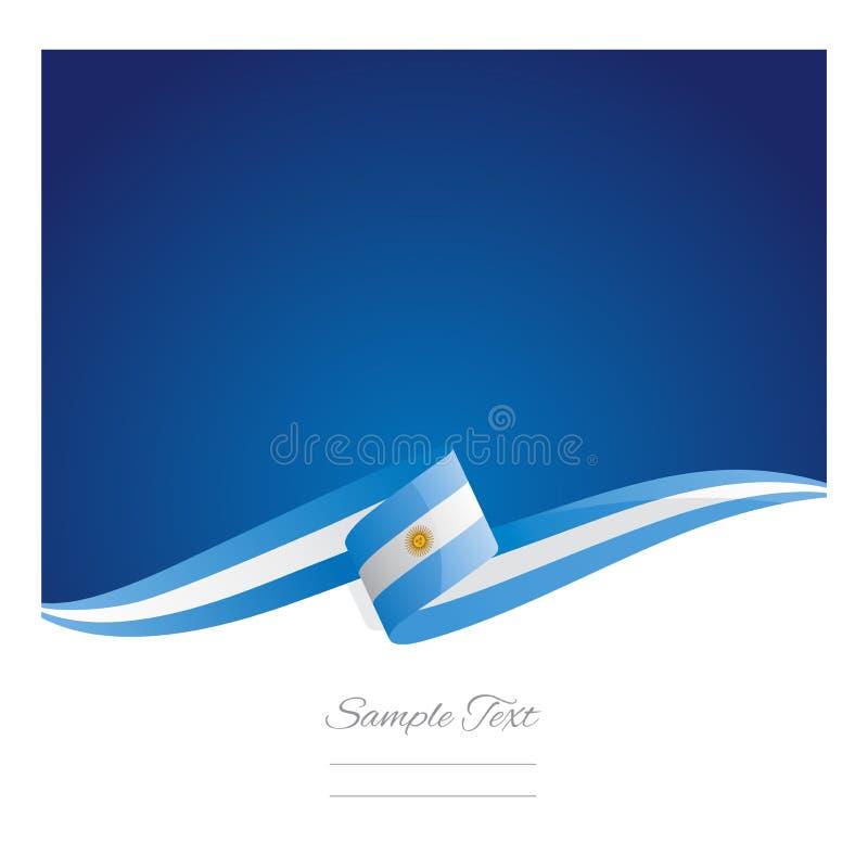 Nowy abstrakcjonistyczny Argentyński chorągwiany tasiemkowy sztandar royalty ilustracja