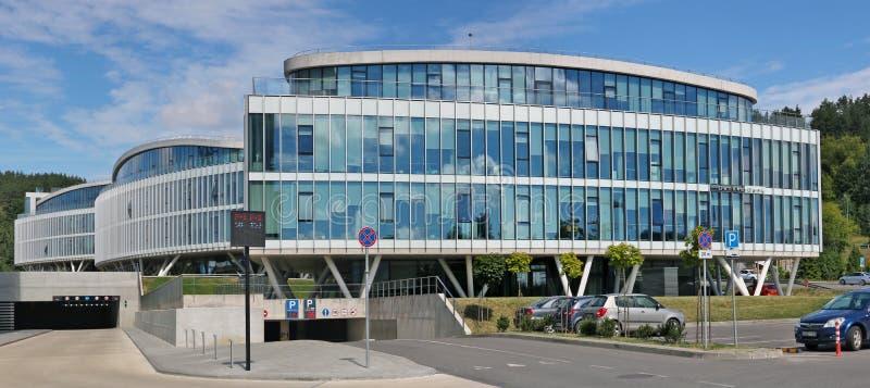 Nowy Bałtycki biuro Duński bank w Bałtyckim kraju kapitale fotografia stock